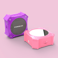 Solar bluetooth mirror speaker 5W pink color