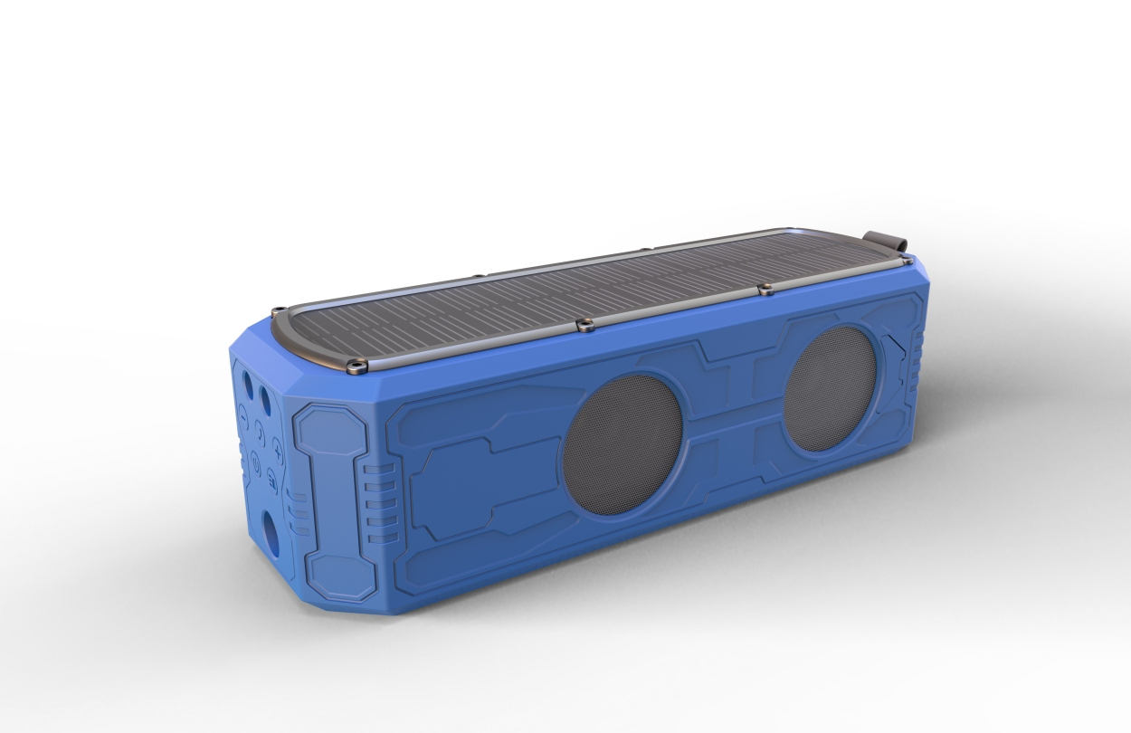 ES-T62 solar bluetooth speaker with 5000mAh battery power bank